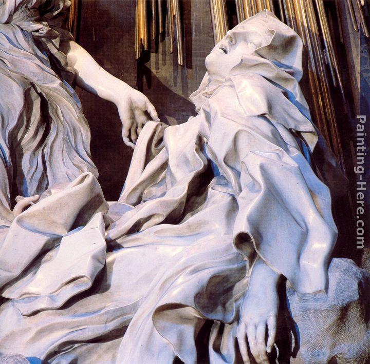 - Gian Lorenzo Bernini The Ecstasy of Saint Teresa  detail  PaintingBernini St Teresa Painting